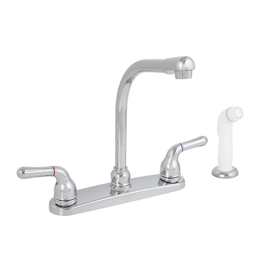 Premier Faucet Sanibel Chrome 2-Handle High-Arc Kitchen Faucet with Side Spray