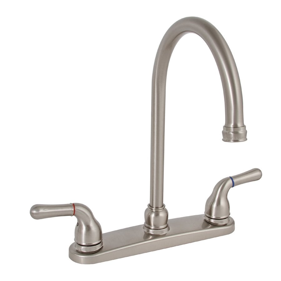 Brushed Nickel Kitchen Faucet : Premier Faucet Sanibel Brushed Nickel 2-Handle High-Arc Kitchen Faucet ...