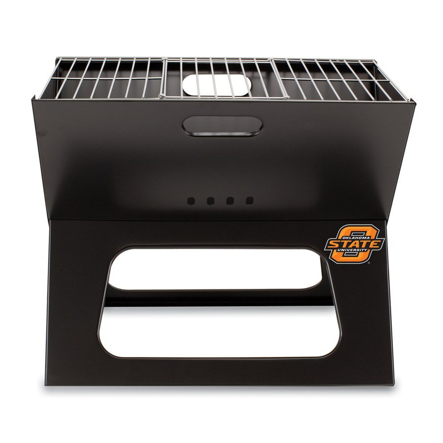 Picnic Time X-Grill 203.5-sq in Oklahoma State Cowboys Portable Charcoal Grill