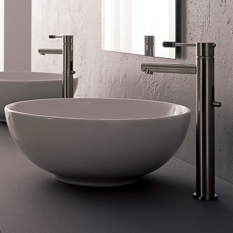 Shop Nameeks Scarabeo White Vessel Round Bathroom Sink at Lowes.com