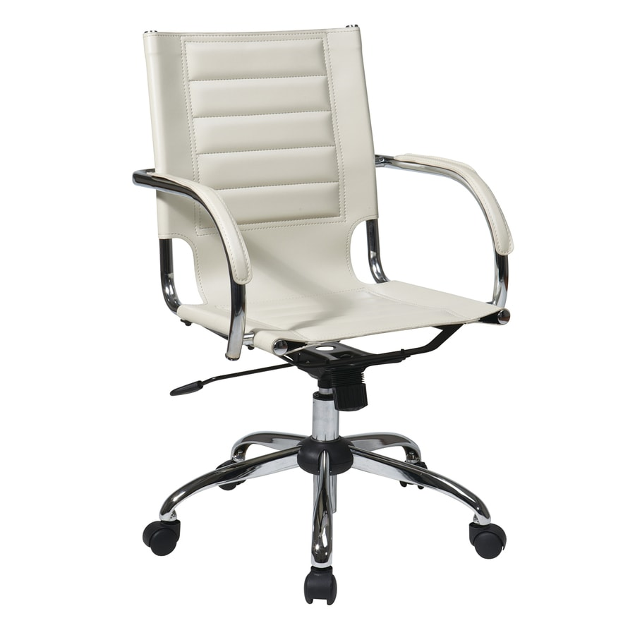 shop office star ave six trinidad cream vinyl task office chair at