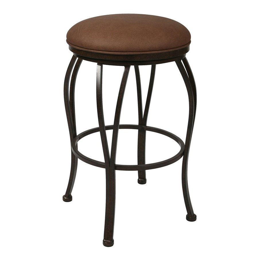 Pastel Furniture Lexington Moccasin 26-in Counter Stool