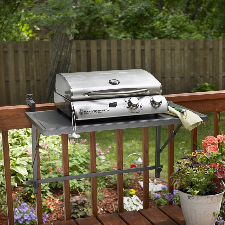 Outdoor Greatroom Company Aluminum Folding Rail Mounted Grill Stand