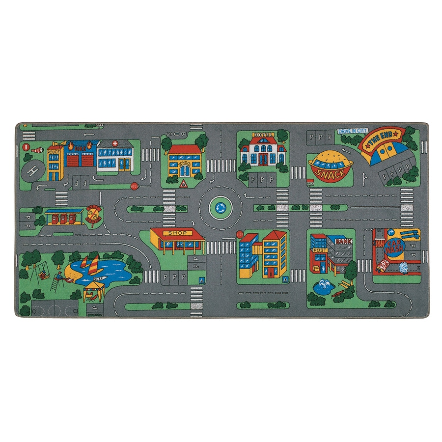Learning Carpets Play Carpets Rectangular Indoor/Outdoor Tufted Kids Area Rug (Common: 3 x 6; Actual: 36-in W x 78-in L)