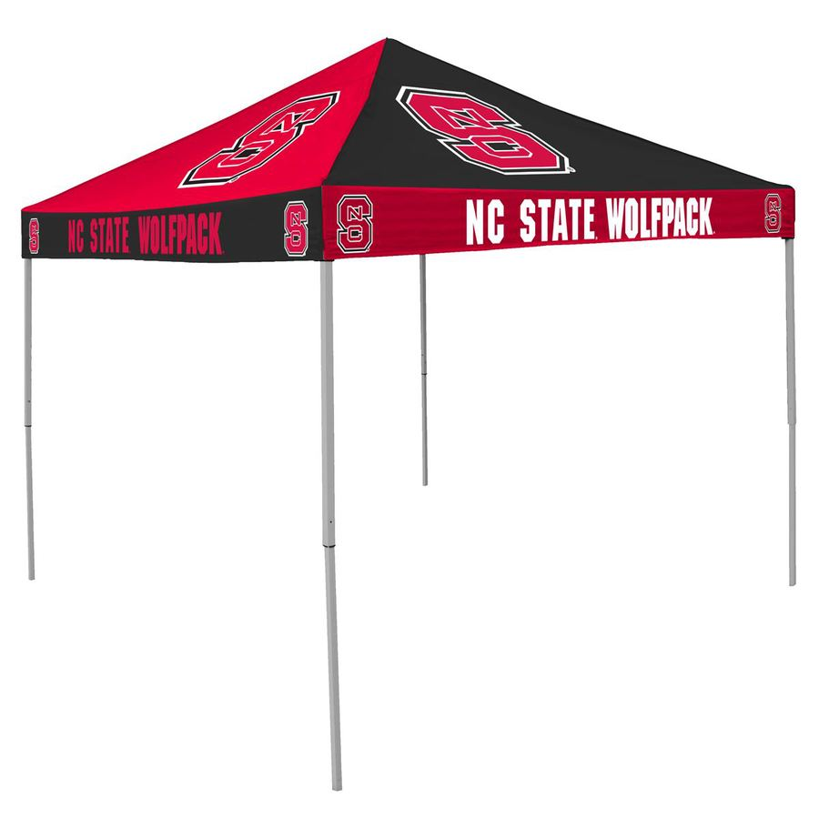 Logo Chairs Checkerboard 9-ft W x 9-ft L Square NCAA North Carolina State University Wolfpack Steel Pop-Up Canopy