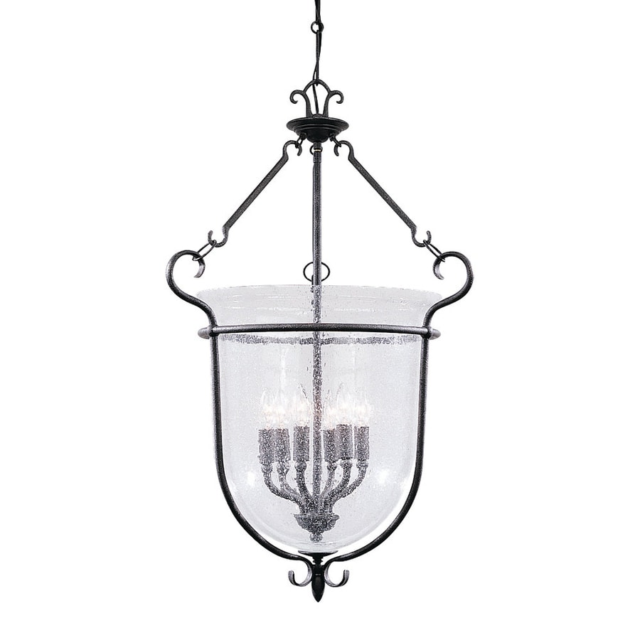 Shop Sea Gull Lighting Manor House 22 In W Weathered Iron Pendant Light With