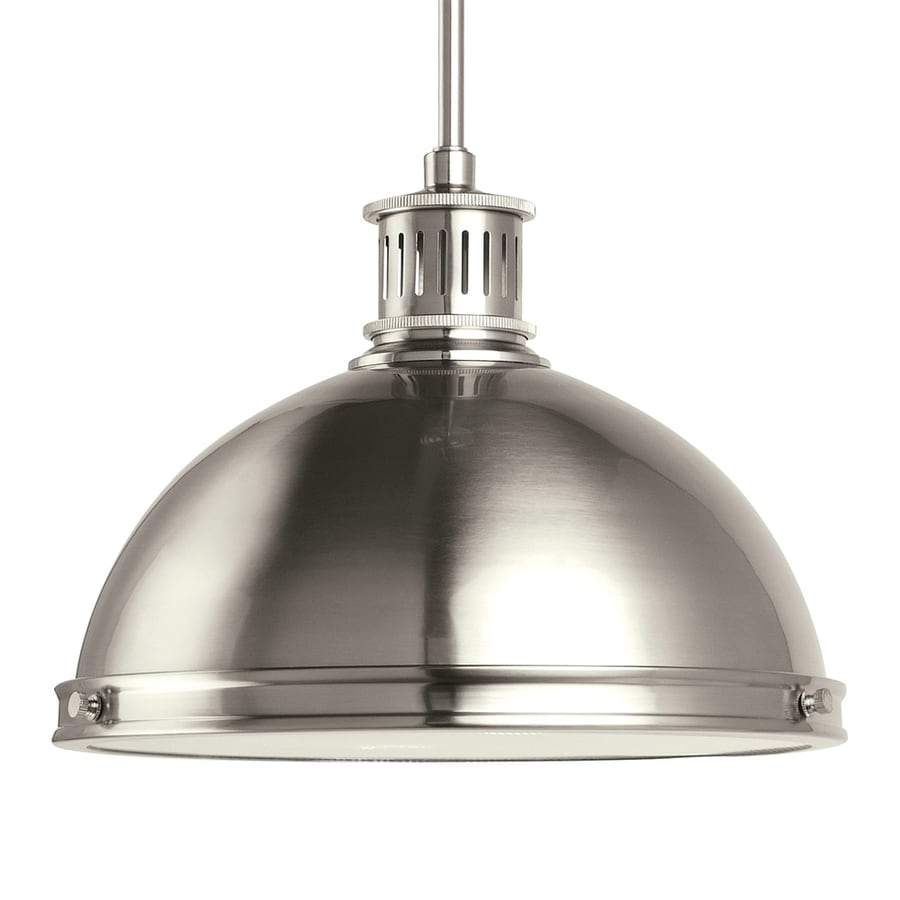 Shop Sea Gull Lighting Pratt Street 13-in Brushed Nickel