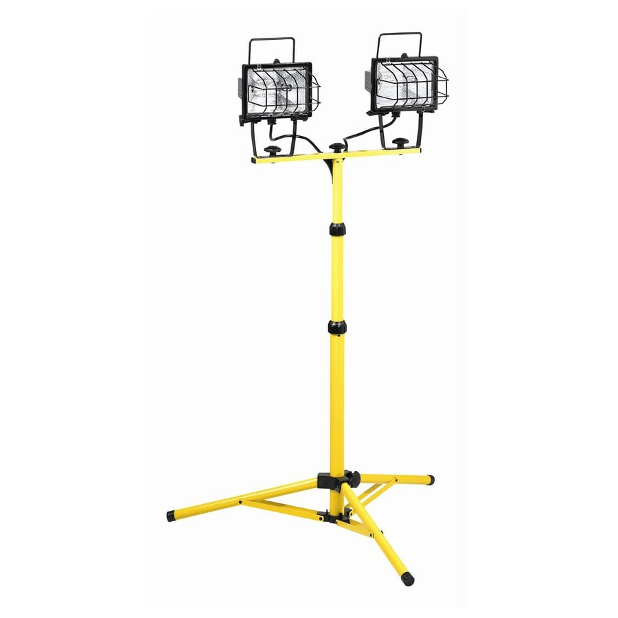 Shop K Tool International 2-Light 500-Watt Halogen Stand