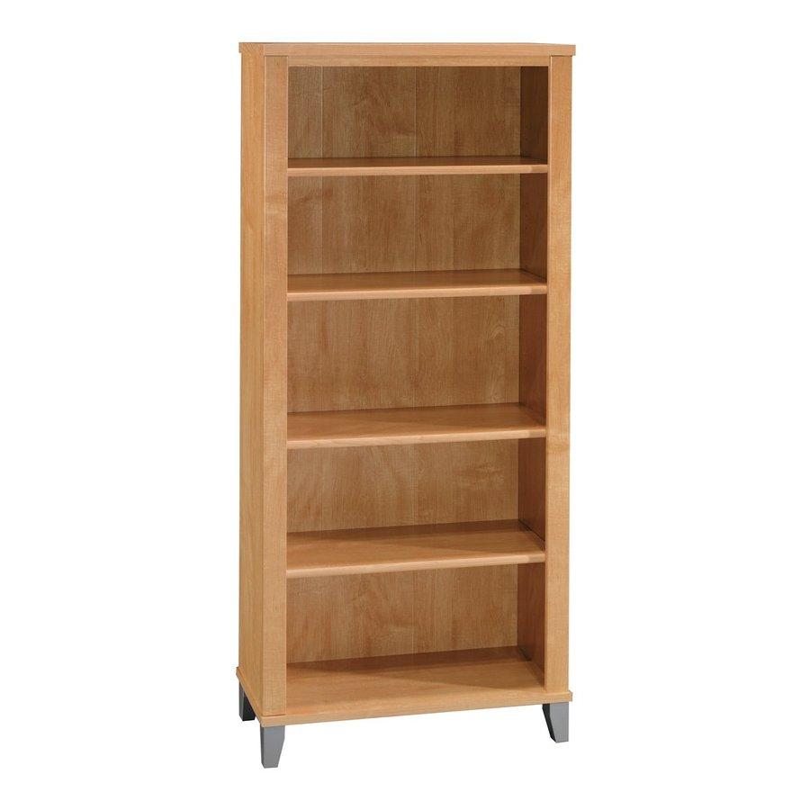 Bush Furniture Somerset Maple Cross 29.57-in W x 65.24-in H x 12.8-in D 5-Shelf Bookcase