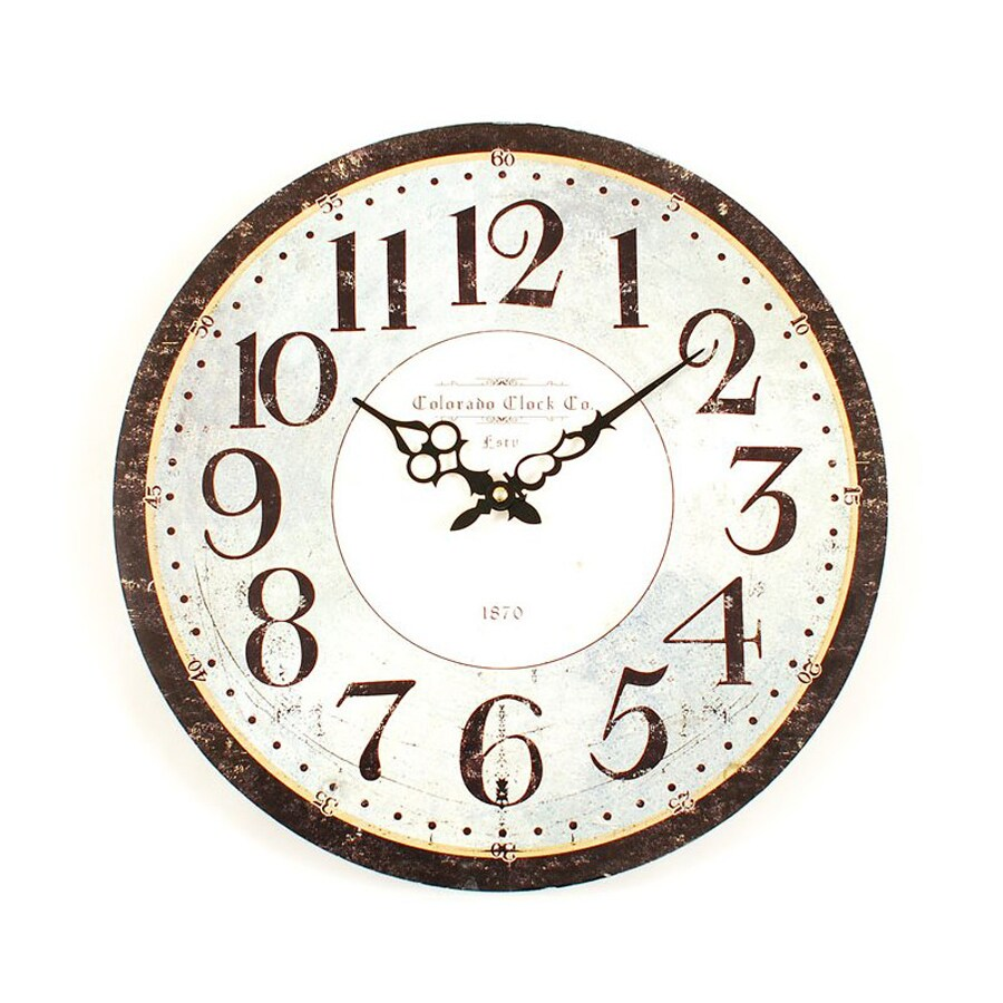 Ashton Sutton Analog Round Indoor Wall Clock