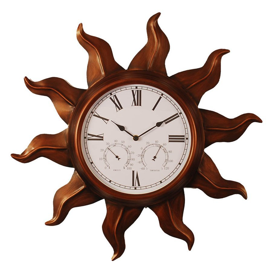 Shop Ashton Sutton Copper Sun Analog Round Outdoor Wall