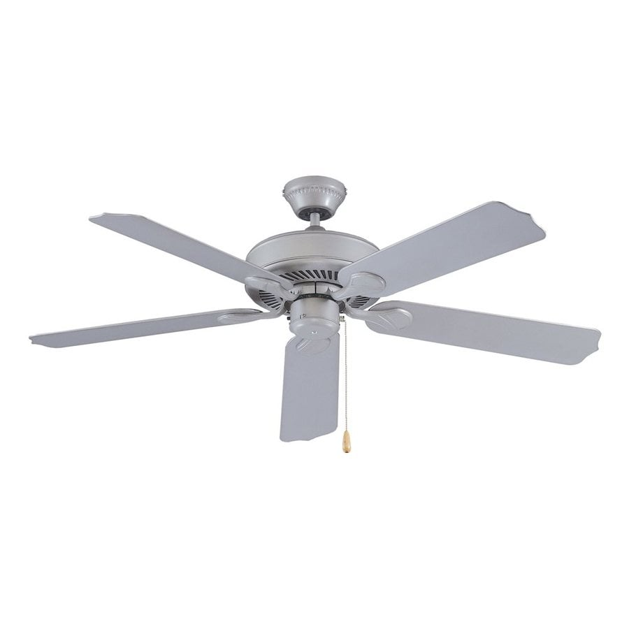 Royal Pacific Sunset 52-in Brushed Pewter Downrod Mount Indoor/Outdoor Ceiling Fan (5-Blade) ENERGY STAR