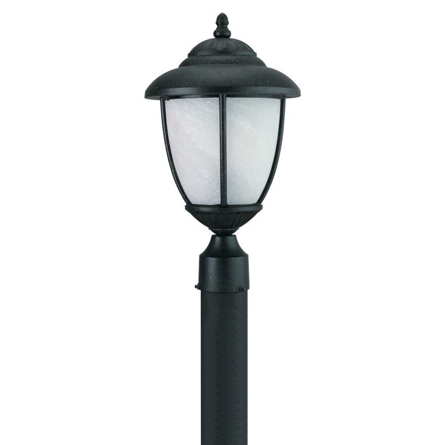 Sea Gull Lighting Yorktowne 17.25-in H Forged Iron Post Light