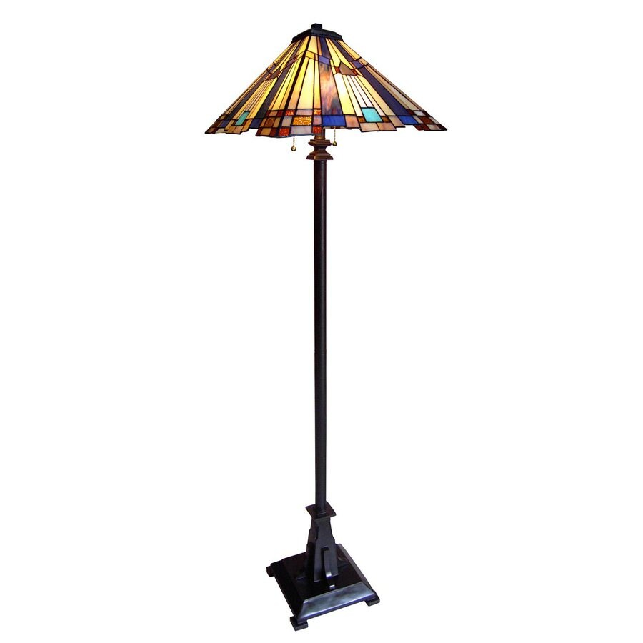 Shop Chloe Lighting Mission 63 In Bronze Tiffany Style