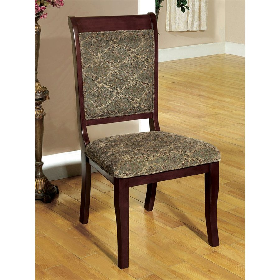 Furniture of America Set of 2 Saint Nicholas Antique Cherry Side Chairs