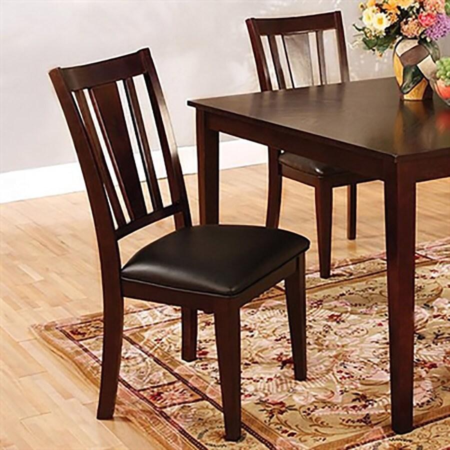 Furniture of America Set of 2 Bridgette Espresso Side Chairs