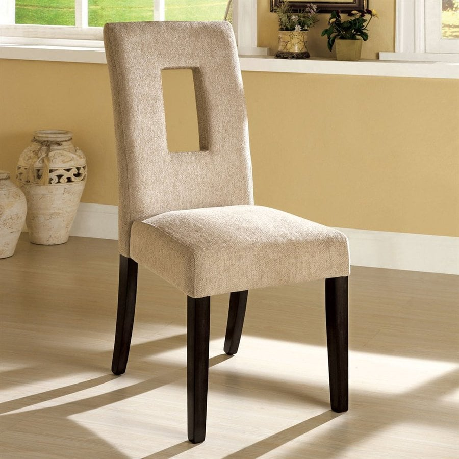 Furniture of America Set of 2 West Palm Espresso Side Chairs