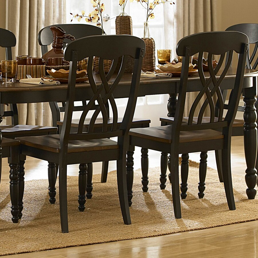 Homelegance 2 Ohana Cherry/Antique Black Side Chairs