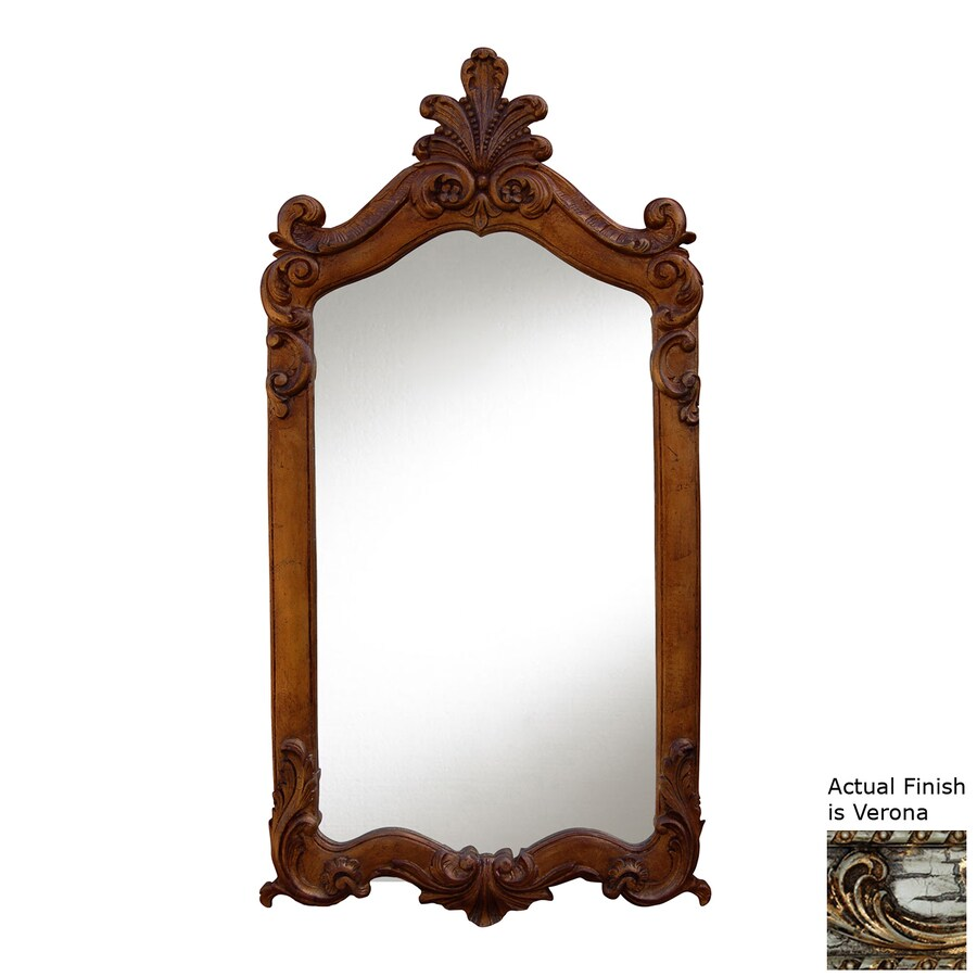 Hickory Manor House Royal 28-in x 52-in Verona Polished Rectangle Framed Wall Mirror