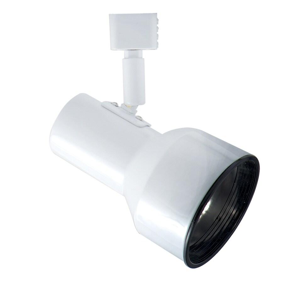 JESCO 1-Light White Step Linear Track Lighting Head