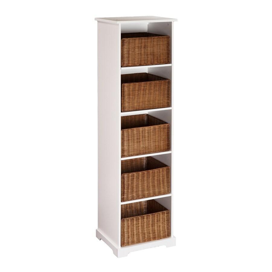 Boston Loft Furnishings Talor White 20-in W x 72.25-in H x 16.5-in D 5-Shelf Bookcase
