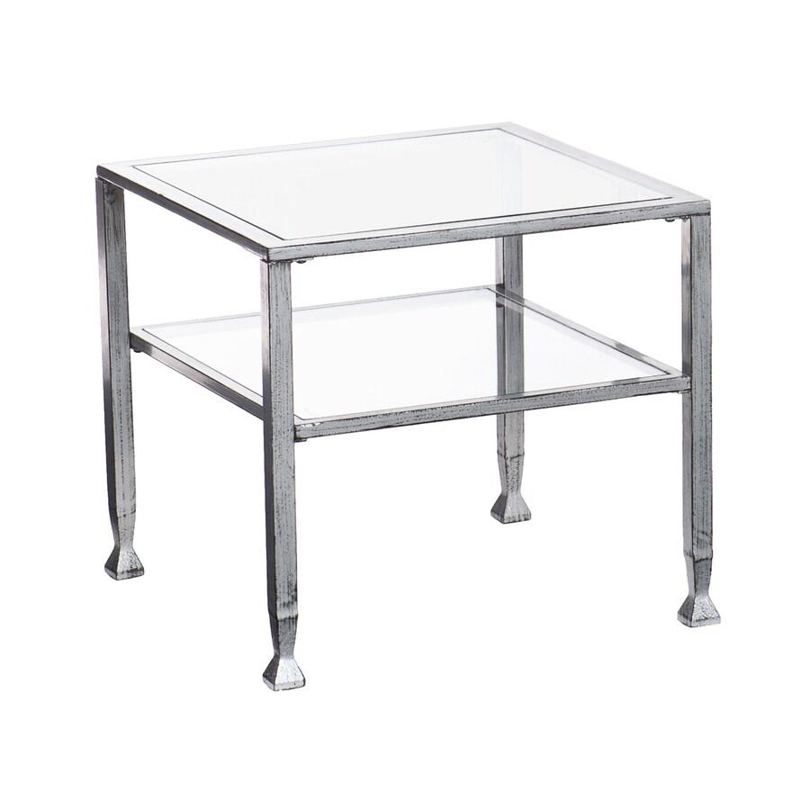 Boston Loft Furnishings Luna Distressed Silver (Metal) Square Coffee Table