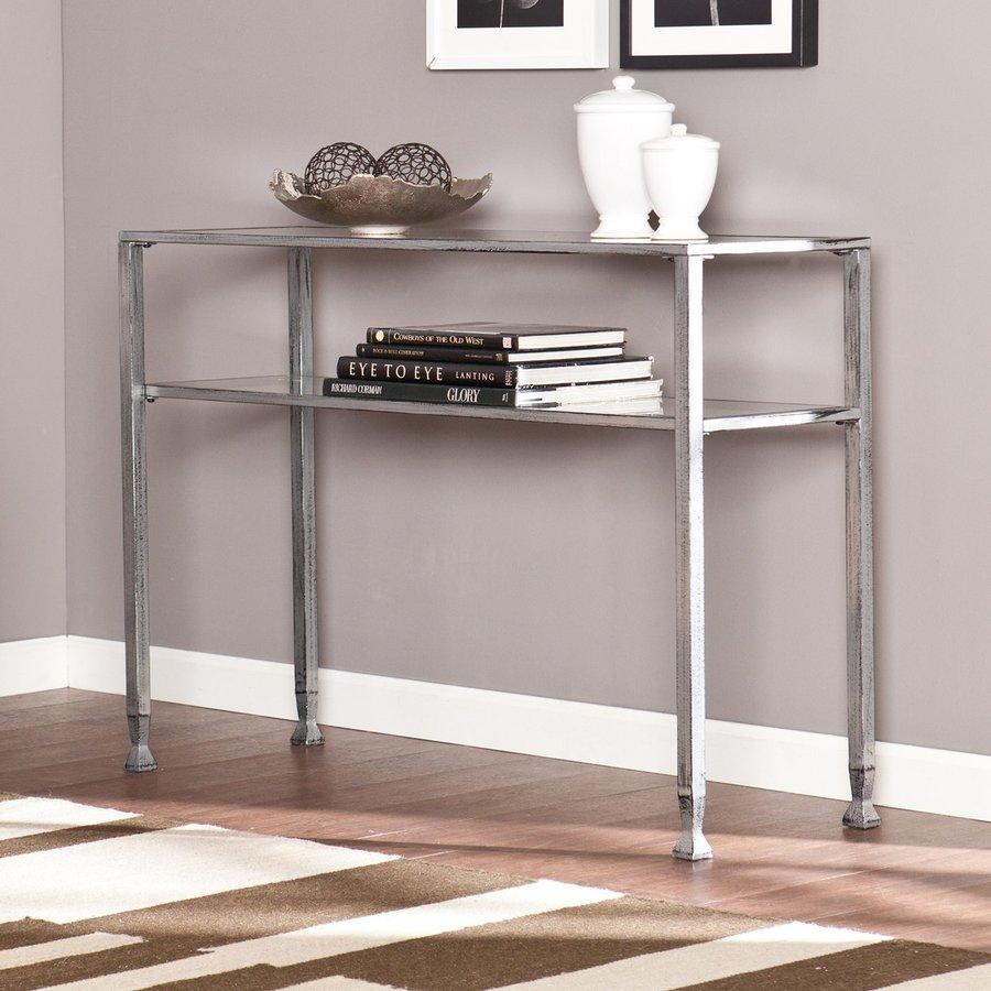Boston Loft Furnishings Luna Distressed Silver (Metal) Rectangular Console and Sofa Table