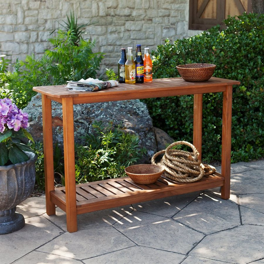 Boston Loft Furnishings Rita Natural Oil Asian Hardwood Rectangular Console and Sofa Table