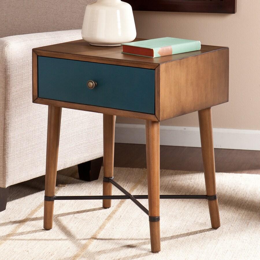 Boston Loft Furnishings Urban Dusty Oak/Blue Birch Rectangular End Table