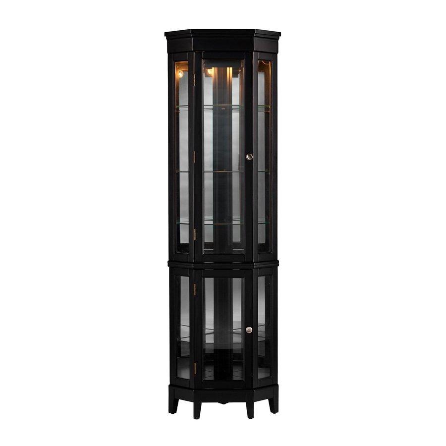 Shop boston loft furnishings nakasi black half round curio cabinet at