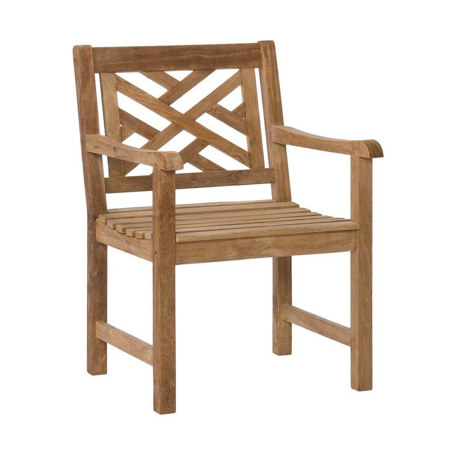 Boston Loft Furnishings Light Brown Teak Patio Conversation Chair