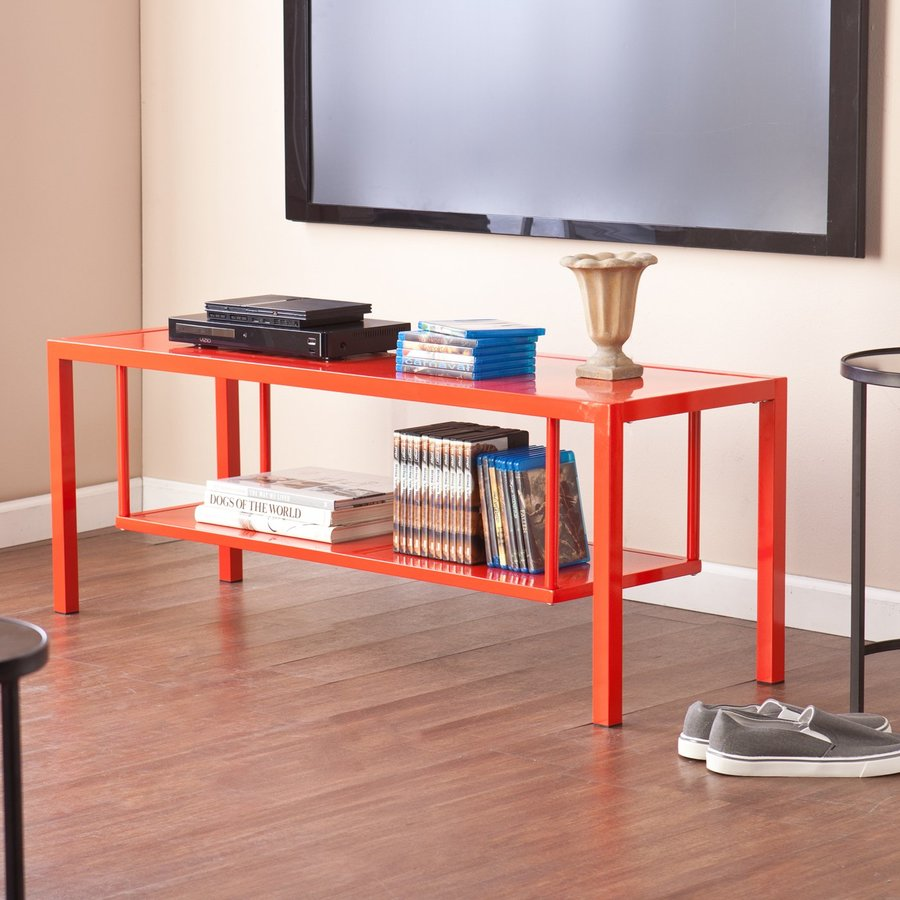 Holly & Martin Maians Red-Orange Rectangular Television Cabinet