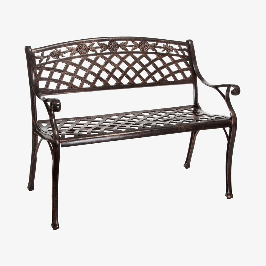 Shop Best Selling Home Decor Hamilton 23 6 In W X 39 3 In L Copper Aluminum Patio Bench At