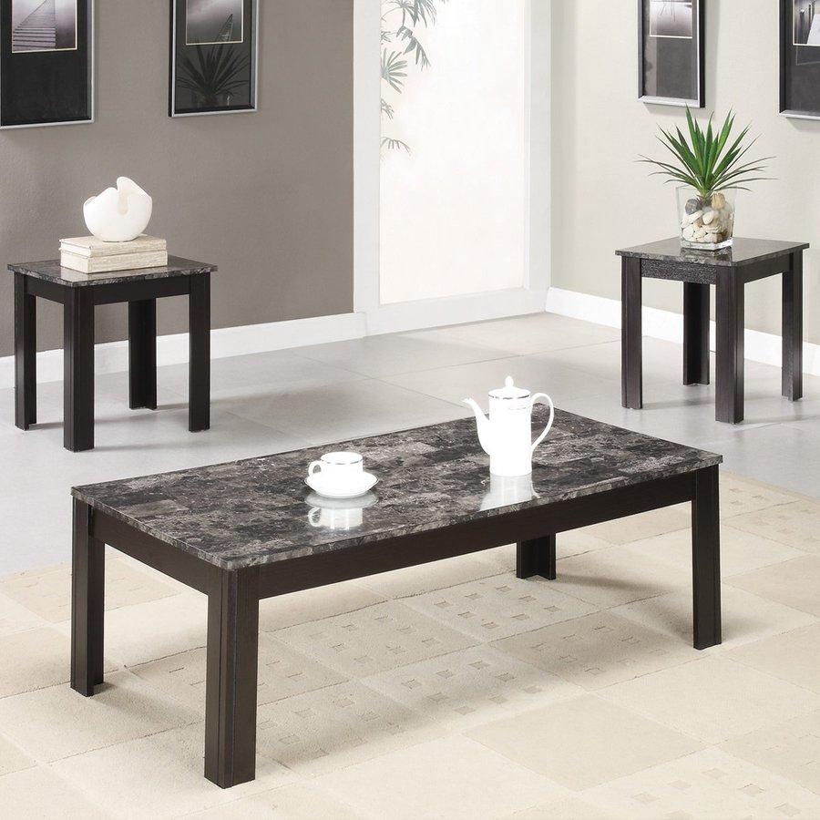 shop coaster fine furniture 3 piece black accent table set at. Black Bedroom Furniture Sets. Home Design Ideas