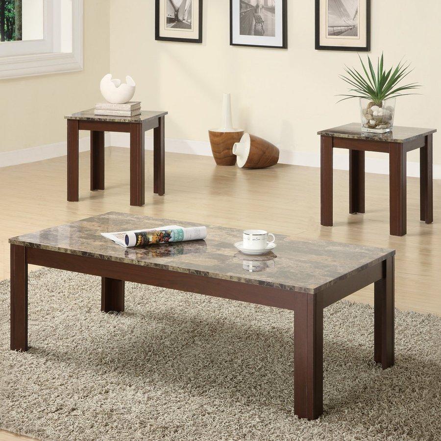 Coaster Fine Furniture 3-Piece Brown Accent Table Set