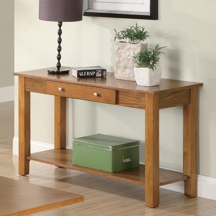 Coaster Fine Furniture Oak Rectangular Console and Sofa Table