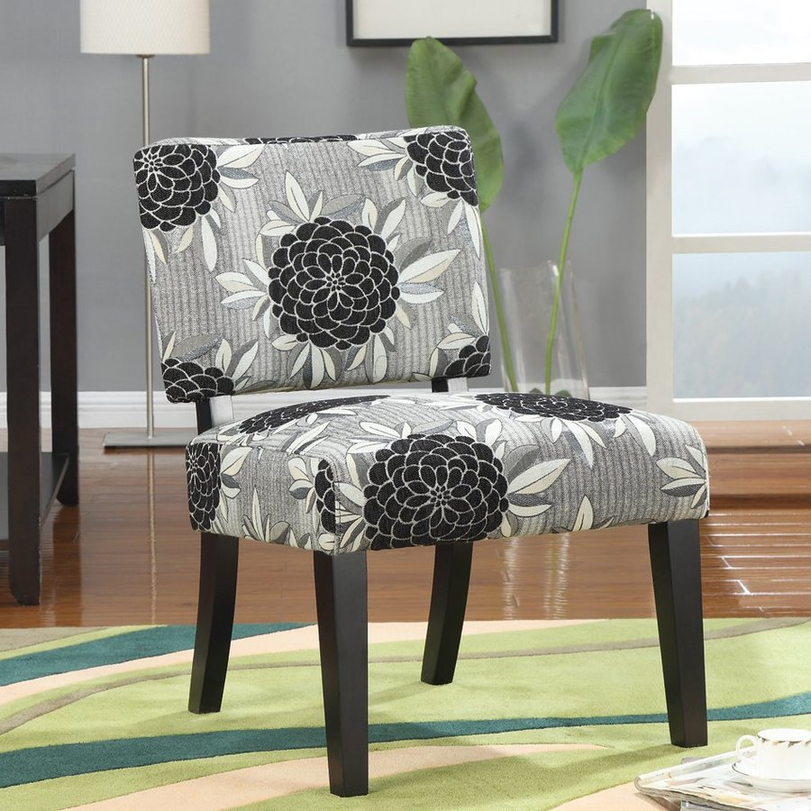 Coaster Fine Furniture Grey/Big Flowers Accent Chair