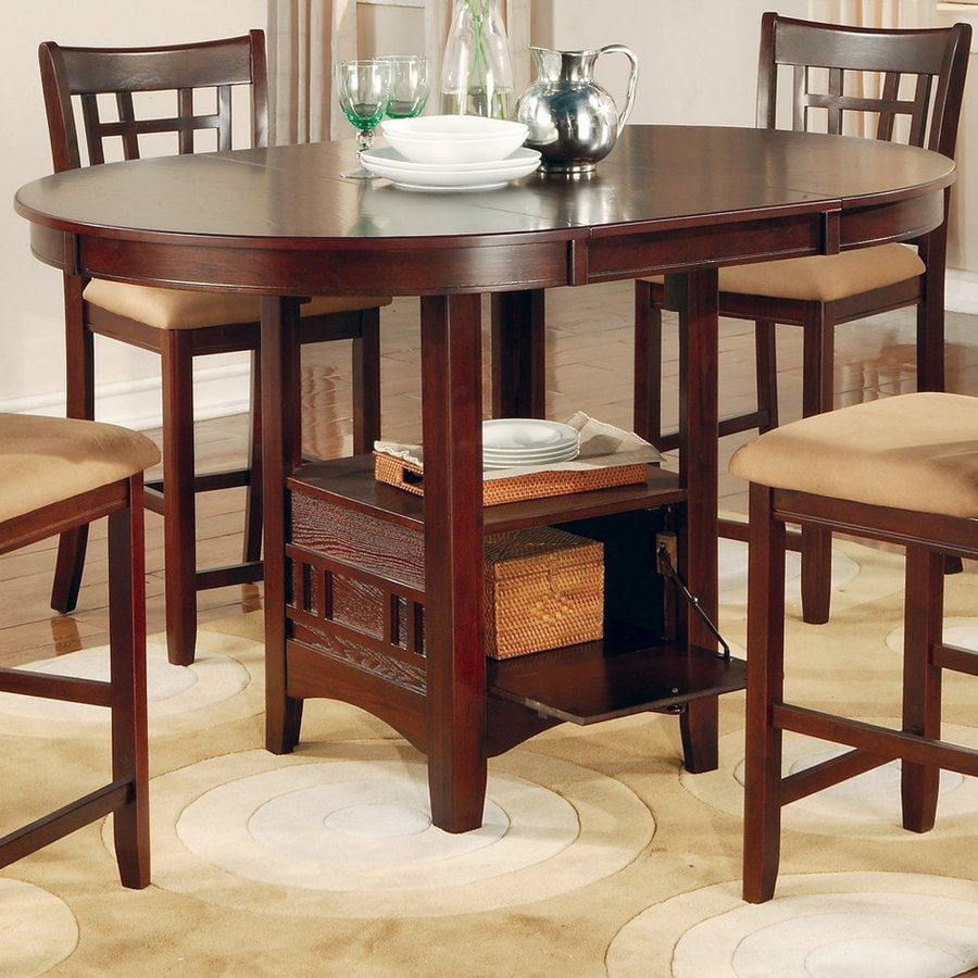 Coaster Fine Furniture Lavon Dark Cherry Oval Dining Table