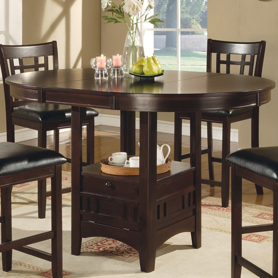 Oval Kitchen Table And Chairs: Shop Coaster Fine Furniture Lavon Cappuccino Oval Dining