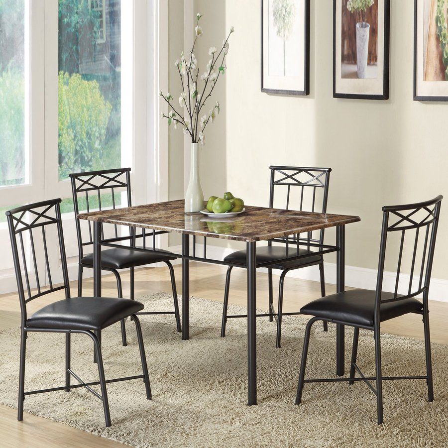 Coaster Fine Furniture Black Dining Set with Rectangular Dining Table