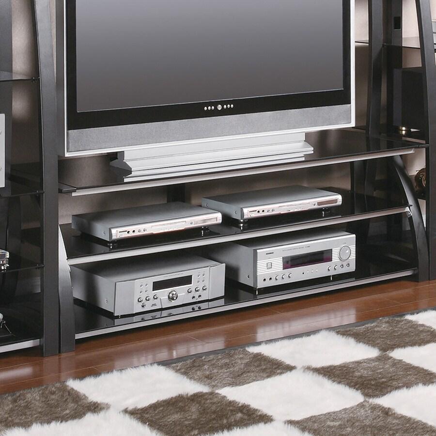 Coaster Fine Furniture Black Silver Rectangular Television Cabinet