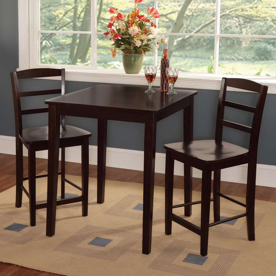 International Concepts Rich Mocha Dining Set with Rectangular Counter Table