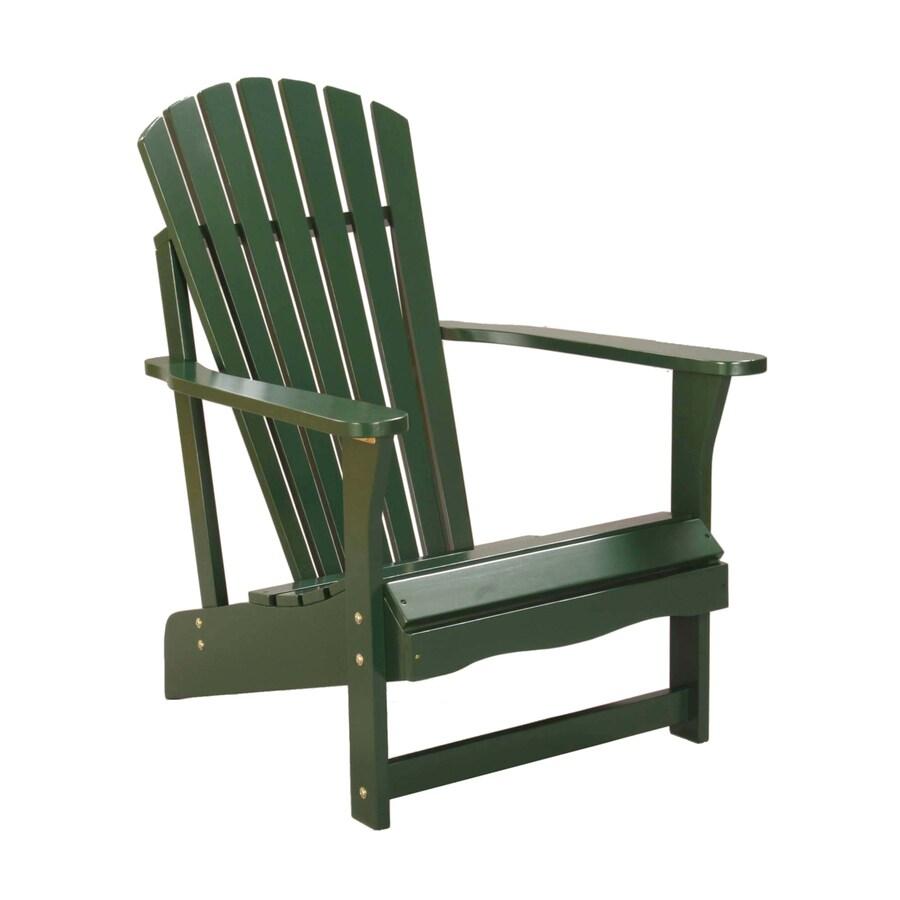 International Concepts Hunter Green Acacia Patio Adirondack Chair