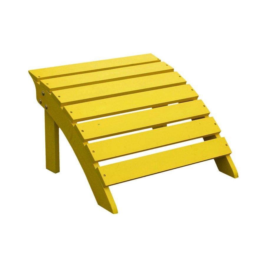 International Concepts Yellow Acacia Wood Foot Stool