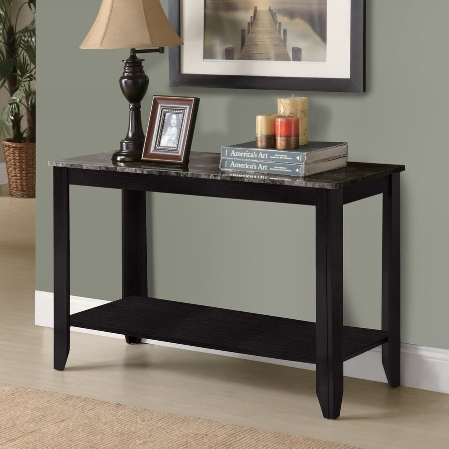 Monarch Specialties Black Composite Rectangular Console and Sofa Table