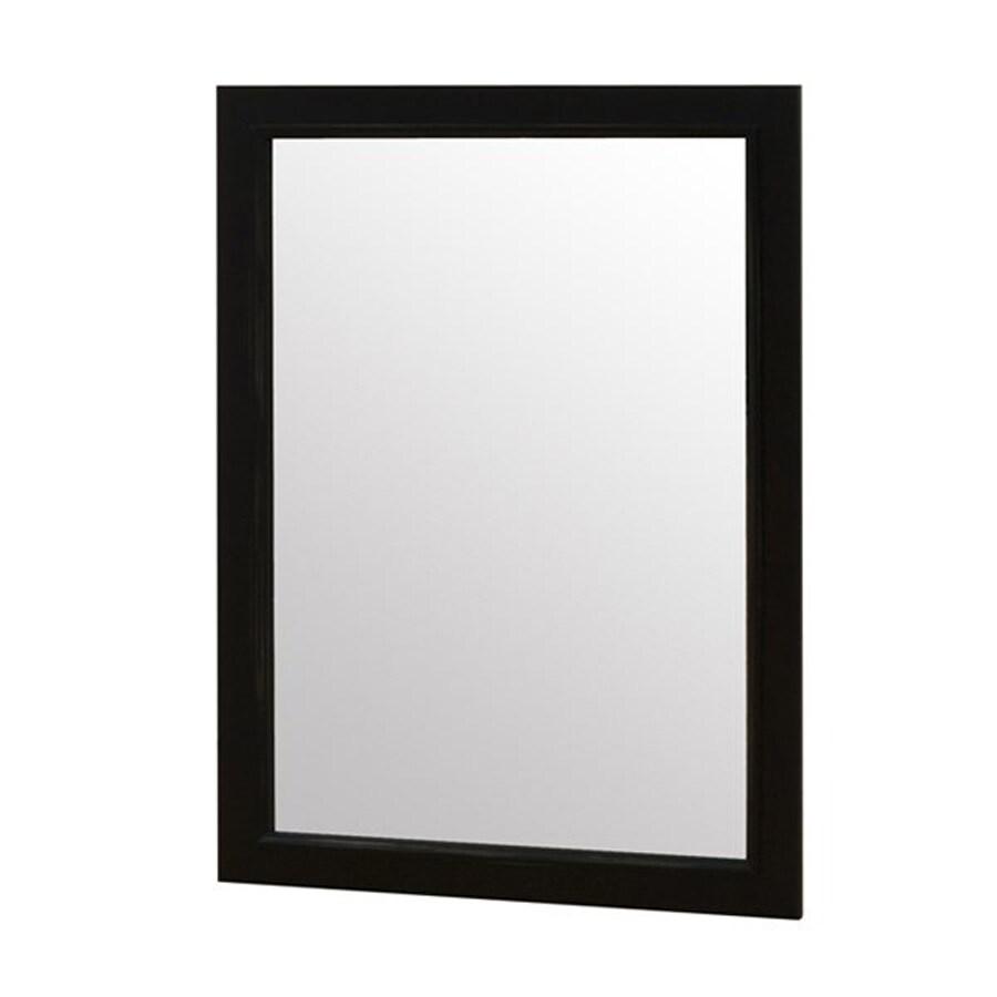 John Boyd Furniture Notting Hill 44.5-in x 31-in Ebony Rectangle Framed Transitional Wall Mirror