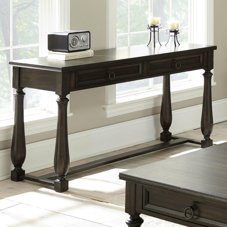 Steve Silver Company Leona Antiqued Charcoal Acacia Rectangular Console and Sofa Table