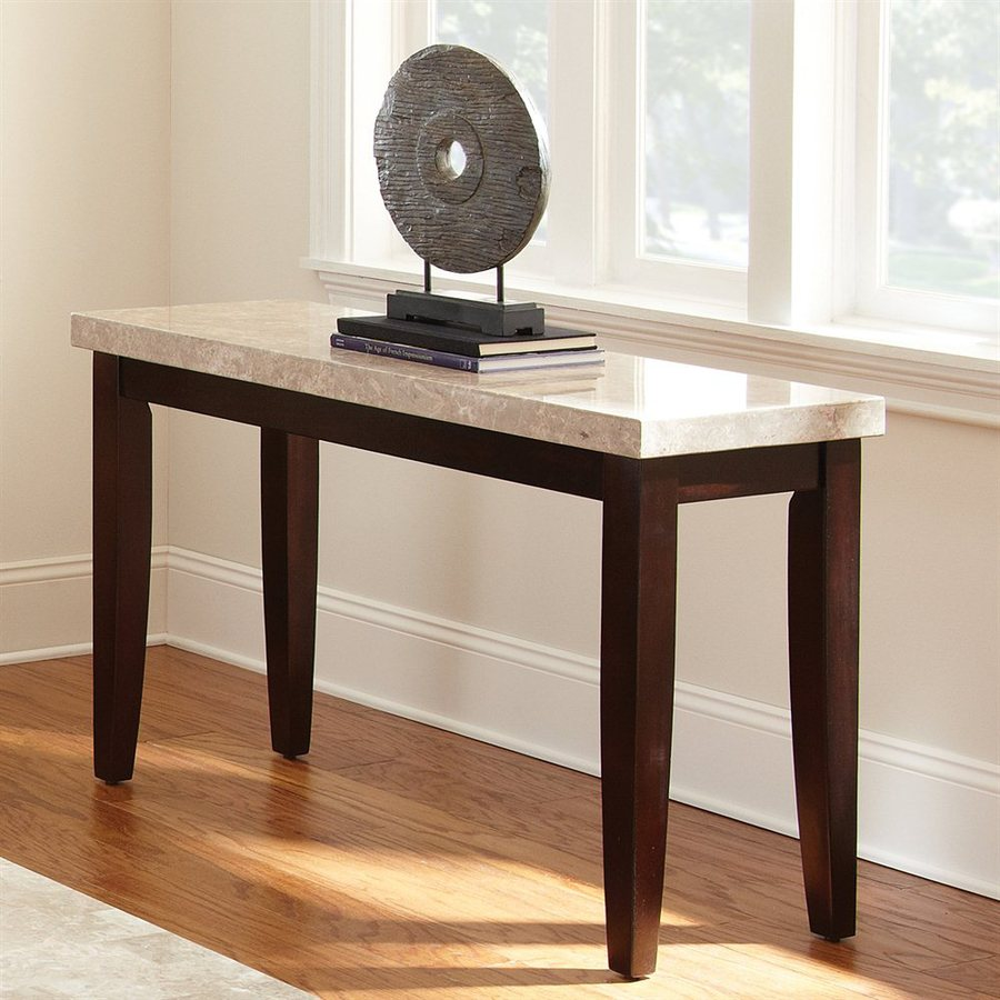 Steve Silver Company Monarch Cordovan Dark Cherry Birch Rectangular Console and Sofa Table