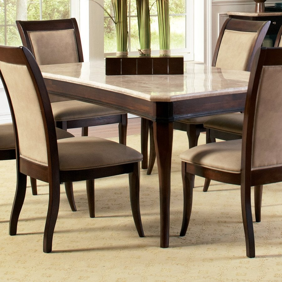 Shop steve silver company marseille merlot cherry rectangular dining table at - Silver dining table and chairs ...