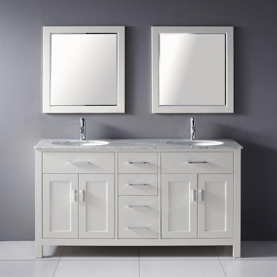 Shop Spa Bathe Kenzie White Undermount Double Sink